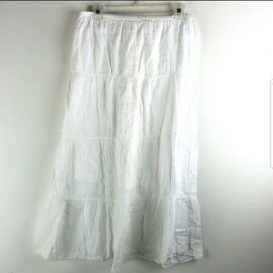 Dresses & Skirts - White Cotton Boho Festival Wedding Skirt